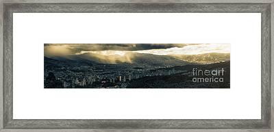Valle De Aburra Framed Print by Alejandro Tejada
