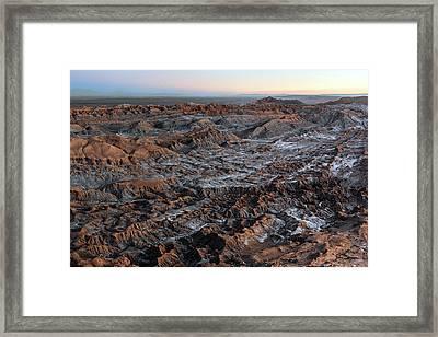 Valle De La Luna Framed Print