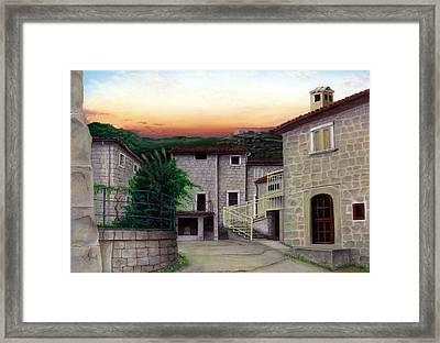 Vallecchia De Monte Calvo Framed Print