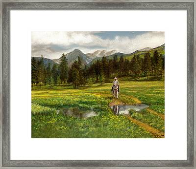 Vallecito Meadows Framed Print