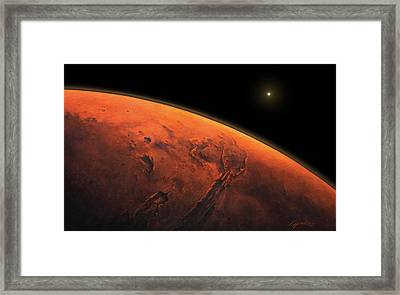 Valles Marineris Sunrise Framed Print