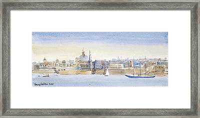 Valletta Skyline Framed Print by Lucy Willis