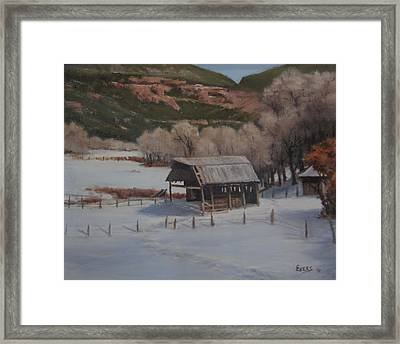 Valley At Rest Framed Print by Mar Evers