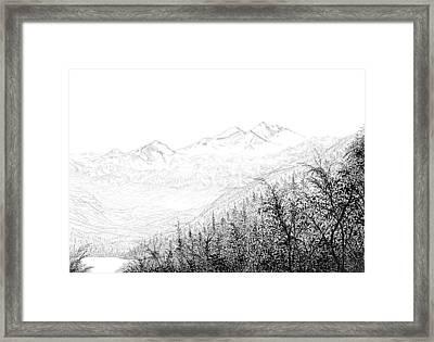 Valley Framed Print by Carl Genovese