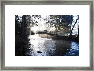 Valley Creek Bow Bridge At Valley Forge Framed Print by Bill Cannon
