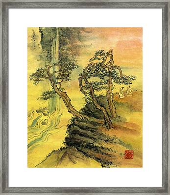 Valley Echo Framed Print by Ping Yan