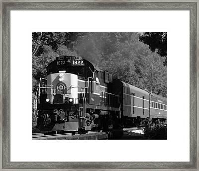 Valley Express Framed Print