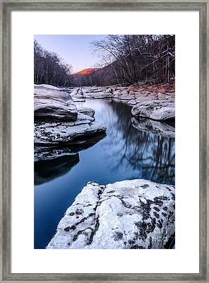 Valley Falls D30008098 Framed Print by Kevin Funk