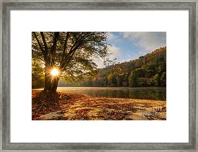 Valley Falls D30020421 Framed Print by Kevin Funk