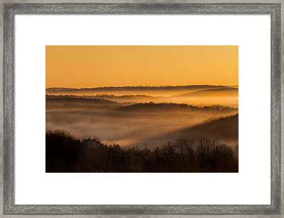 Valley Fog Framed Print by Bill Wakeley