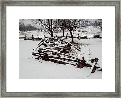 Framed Print featuring the photograph Valley Forge Snow by Michael Porchik