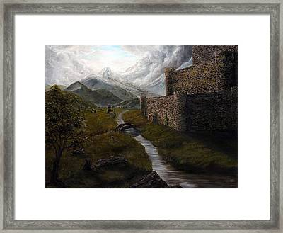 Valley Fortress Framed Print by Kory Kiewitz