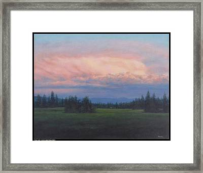 Valley Gold Framed Print by Diana Moses Botkin