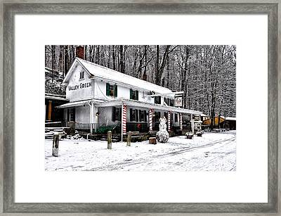 Valley Green In Winter Framed Print by Bill Cannon