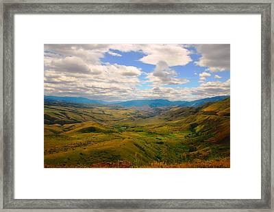 Valley In Northern Idaho Framed Print by Larry Moloney