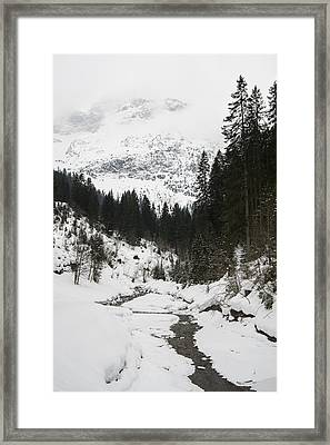 Valley In Winter Framed Print