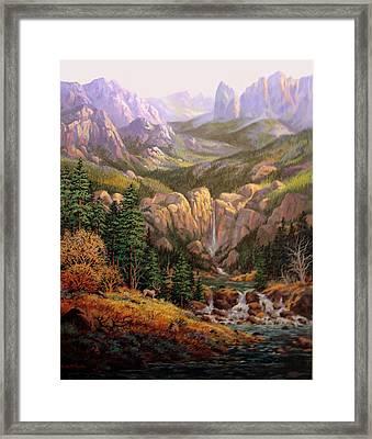 Valley King Framed Print by W  Scott Fenton