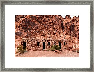 Valley Of Fire Cabin Framed Print