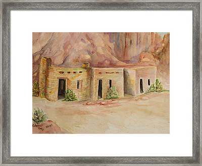 Valley Of Fire Cabins Framed Print