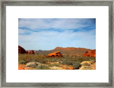 Valley Of Fire Framed Print by Marti Green