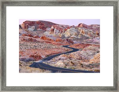 Valley Of Fire Road Framed Print by Patrick Downey