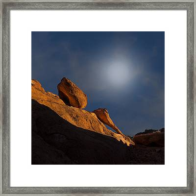 Valley Of Fire Square One Framed Print