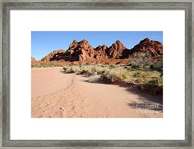 Valley Of Fire Wash Framed Print by Gary Whitton
