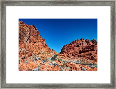 Valley Of Fire Framed Print by Zachary Cox