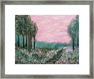 Valley Of Flowers Framed Print