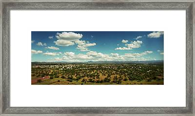 Valley Of Mexico As Seen Framed Print