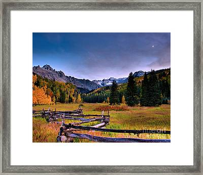 Valley Of Mt Sneffels Framed Print by Steven Reed