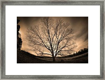 Valley Of Promise Framed Print by Mark Six