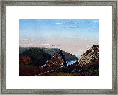 Valley Of Rocks Devon Framed Print by Richard Taylor