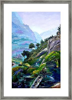 Valley Of Saints Framed Print