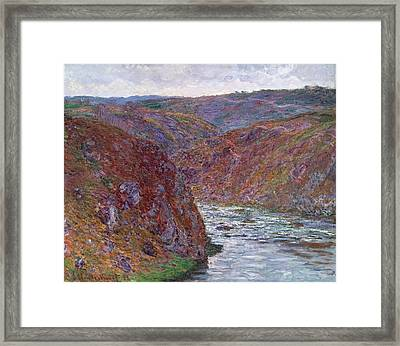 Valley Of The Creuse Framed Print by Claude Monet