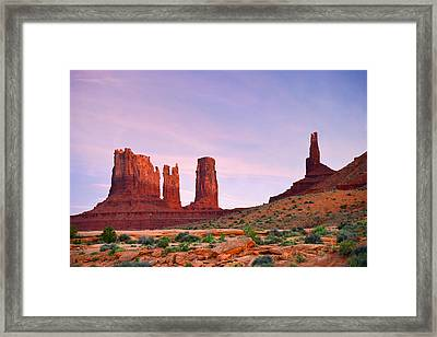 Valley Of The Gods - A Oasis For The Soul Framed Print by Christine Till