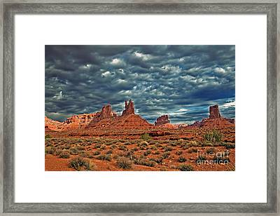 Valley Of The Gods Framed Print by Robert Bales