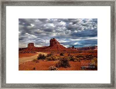 Valley Of The Gods Stormy Clouds Framed Print
