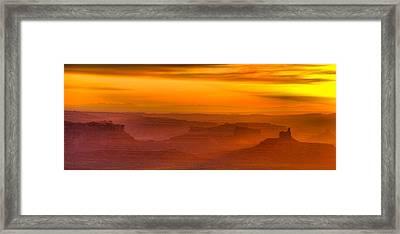 Valley Of The Gods Sunrise Utah Four Corners Monument Valley II Framed Print by Silvio Ligutti