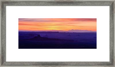 Valley Of The Gods Sunrise Utah Four Corners Monument Valley Framed Print by Silvio Ligutti