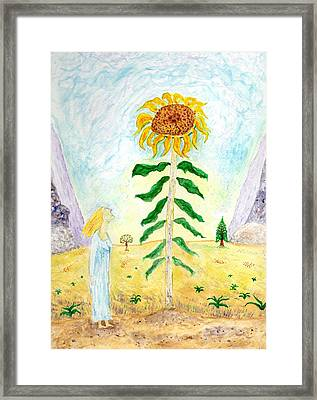 Valley Of The Mammoth Sunflowers Framed Print