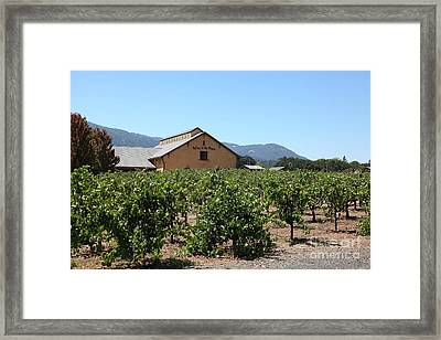 Valley Of The Moon Winery In The Sonoma California Wine Country 5d24485 Framed Print by Wingsdomain Art and Photography