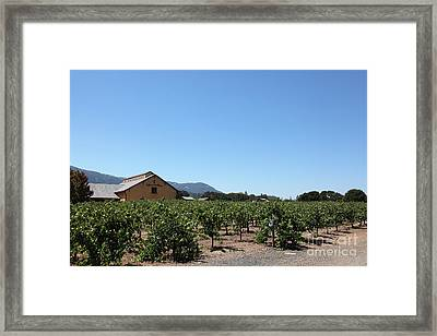 Valley Of The Moon Winery In The Sonoma California Wine Country 5d24486 Framed Print by Wingsdomain Art and Photography