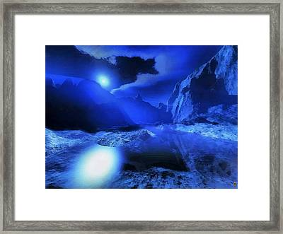 Valley Of The Night Land Framed Print by Mario Carini