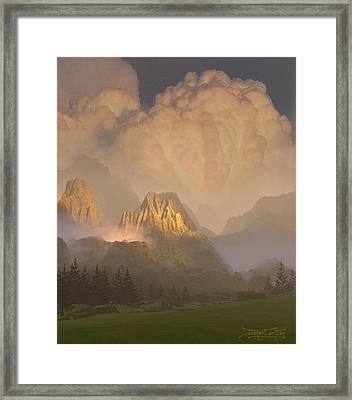 Valley Of The Shadow Of Life Framed Print by Dieter Carlton