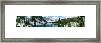 Valley Of The Ten Peaks, Banff National Framed Print