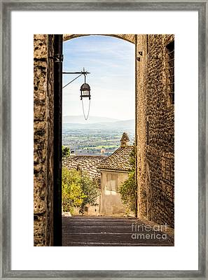 Valley Outside Assisi Framed Print