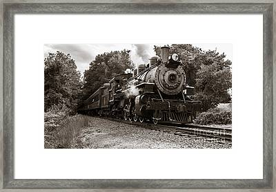 Valley Railroad Steam Train Framed Print