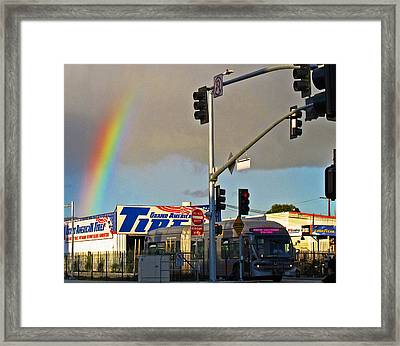 Valley Rainbow 2 Framed Print