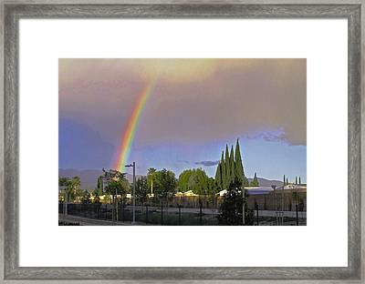 Valley Rainbow 3 Framed Print